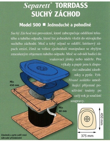 Separační vestavba Separett - PRIVY 500